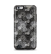 The Back & White Abstract Swirl Pattern Apple iPhone 6 Plus Otterbox Symmetry Case Skin Set