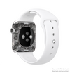 The Back & White Abstract Swirl Pattern Full-Body Skin Kit for the Apple Watch