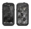 The Black & White Abstract Swirl Pattern Samsung Galaxy S3 LifeProof Fre Case Skin Set