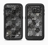 The Back & White Abstract Swirl Pattern Full Body Samsung Galaxy S6 LifeProof Fre Case Skin Kit