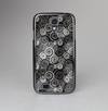 The Back & White Abstract Swirl Pattern Skin-Sert Case for the Samsung Galaxy S4