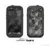 The Back & White Abstract Swirl Pattern Skin For The Samsung Galaxy S3 LifeProof Case