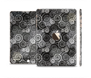 The Back & White Abstract Swirl Pattern Full Body Skin Set for the Apple iPad Mini 3