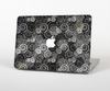 The Back & White Abstract Swirl Pattern Skin Set for the Apple MacBook Air 11""