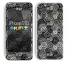 The Back & White Abstract Swirl Pattern Skin for the Apple iPhone 5c