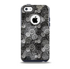 The Back & White Abstract Swirl Pattern Skin for the iPhone 5c OtterBox Commuter Case