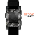 The Black & White Abstract Swirl Pattern Skin for the Pebble SmartWatch