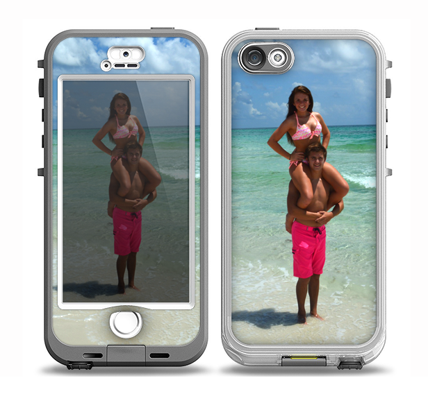 The Add Your Own Photo Apple iPhone 5-5s LifeProof Nuud Case Skin Set