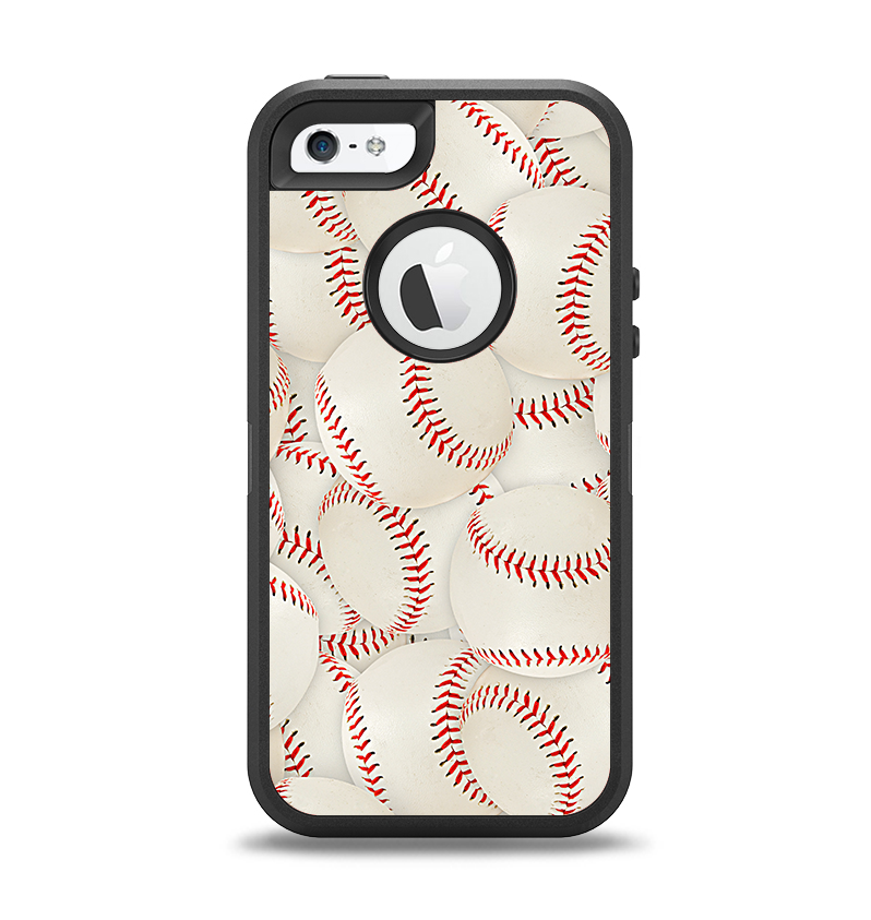 huge discount bb5ad 8dbe6 The Baseball Overlay Apple iPhone 5-5s Otterbox Defender Case Skin Set