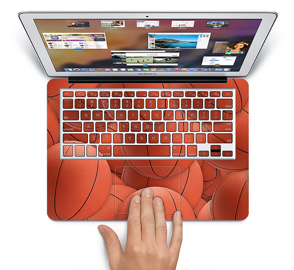 The Basketball Overlay Skin Set for the Apple MacBook Air 11""