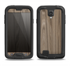 The Beige Woodgrain Samsung Galaxy S4 LifeProof Fre Case Skin Set