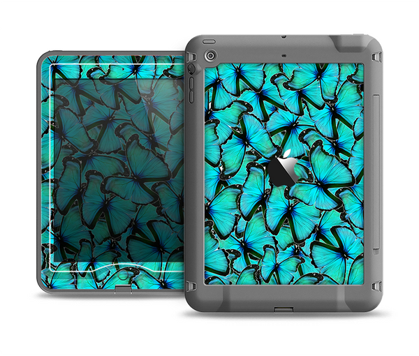 The Butterfly BackGround Flat Apple iPad Air LifeProof Nuud Case Skin Set