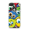The Big-Eyed Highlighted Cartoon Birds Apple iPhone 5-5s Otterbox Commuter Case Skin Set
