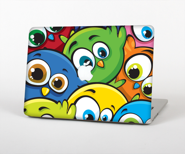 The Big-Eyed Highlighted Cartoon Birds Skin Set for the Apple MacBook Air 11""