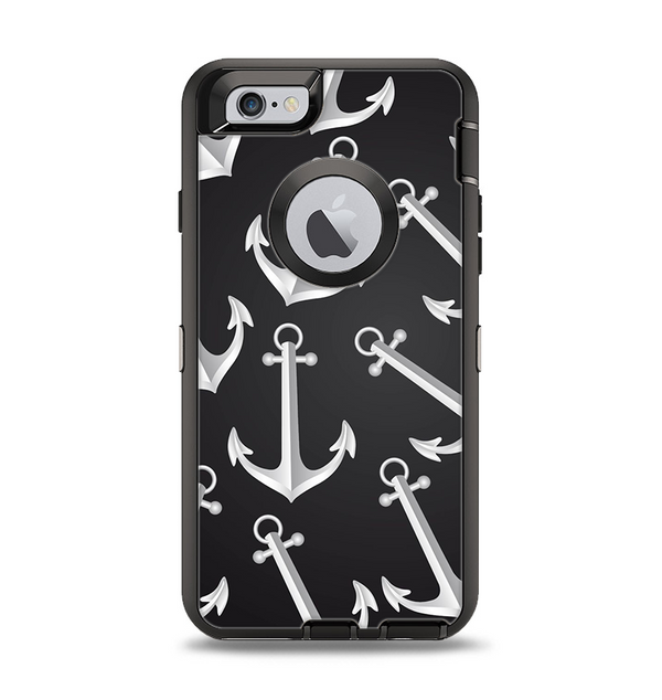 The Black Anchor Collage Apple iPhone 6 Otterbox Defender Case Skin Set