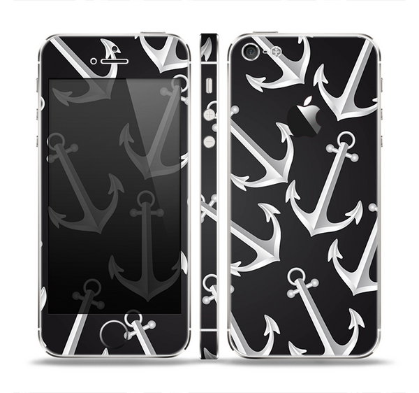 The Black Anchor Collage Skin Set for the Apple iPhone 5
