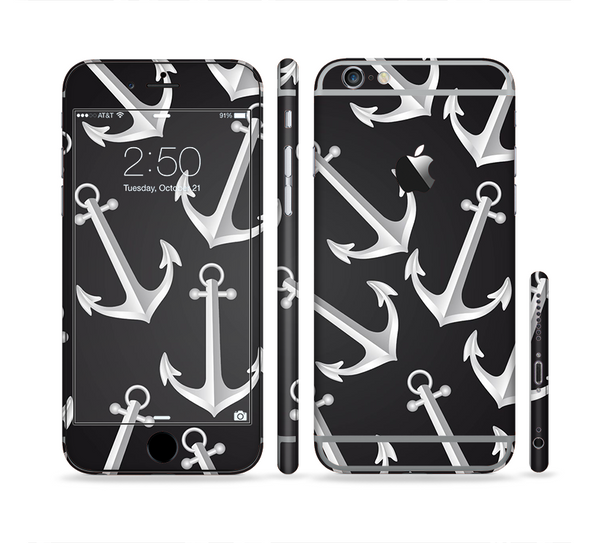 The Black Anchor Collage Sectioned Skin Series for the Apple iPhone 6