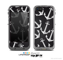 The Black Anchor Collage Skin for the Apple iPhone 5c LifeProof Case
