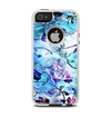The Black & Bright Color Floral Pastel Apple iPhone 5-5s Otterbox Commuter Case Skin Set