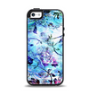 The Black & Bright Color Floral Pastel Apple iPhone 5-5s Otterbox Symmetry Case Skin Set