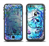 The Black & Bright Color Floral Pastel Apple iPhone 6/6s Plus LifeProof Fre Case Skin Set