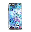 The Black & Bright Color Floral Pastel Apple iPhone 6 Plus Otterbox Symmetry Case Skin Set
