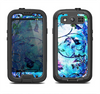 The Black & Bright Color Floral Pastel Samsung Galaxy S4 LifeProof Nuud Case Skin Set