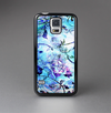 The Black & Bright Color Floral Pastel Skin-Sert Case for the Samsung Galaxy S5