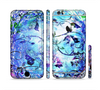 The Black & Bright Color Floral Pastel Sectioned Skin Series for the Apple iPhone 6