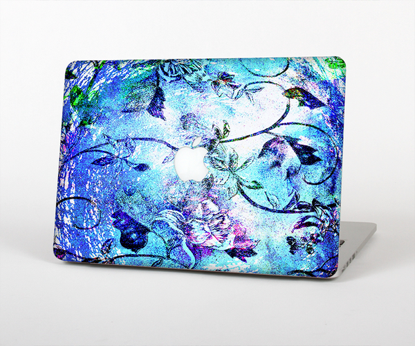 The Black & Bright Color Floral Pastel Skin Set for the Apple MacBook Air 11""