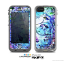 The Black & Bright Color Floral Pastel Skin for the Apple iPhone 5c LifeProof Case