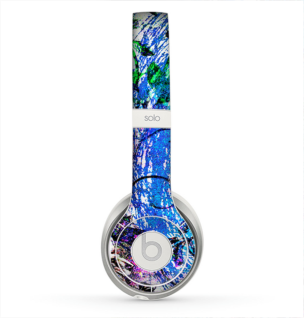 The Black & Bright Color Floral Pastel Skin for the Beats by Dre Solo 2 Headphones