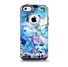 The Black & Bright Color Floral Pastel Skin for the iPhone 5c OtterBox Commuter Case