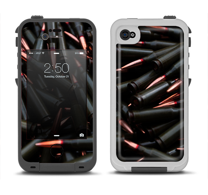 The Black Bullet Bundle Apple iPhone 4-4s LifeProof Fre Case Skin Set