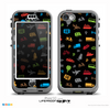 The Black & Colorful Travel Collage Pattern Skin for the iPhone 5c nüüd LifeProof Case