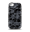 The Black Digital Camouflage Apple iPhone 5c Otterbox Symmetry Case Skin Set