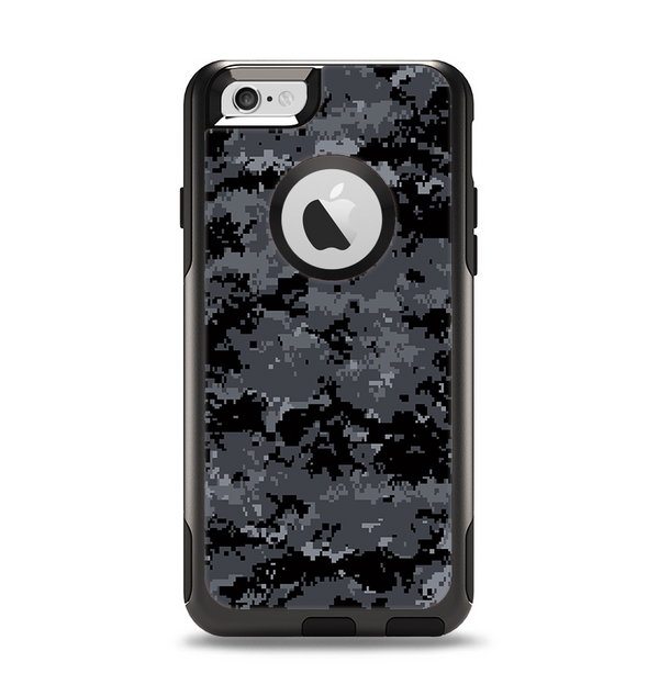 The Black Digital Camouflage Apple iPhone 6 Otterbox Commuter Case Skin Set
