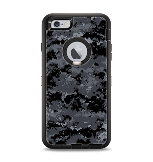 The Black Digital Camouflage Apple iPhone 6 Plus Otterbox Defender Case Skin  Set 6cf5db9d3bec