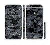 The Black Digital Camouflage Sectioned Skin Series for the Apple iPhone 6 Plus