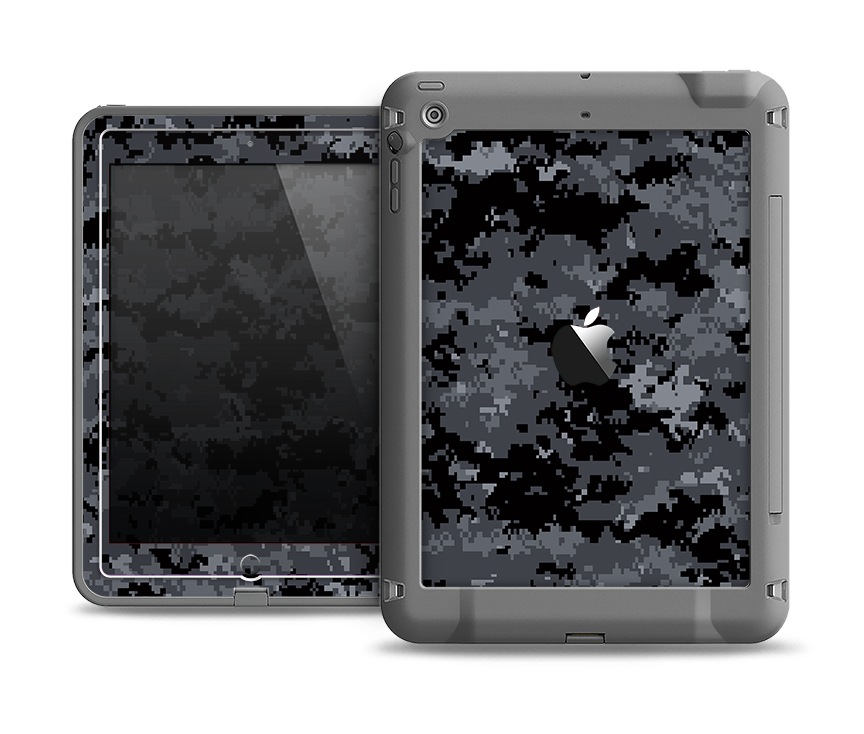 detailed look 6bb7e 0aad2 The Black Digital Camouflage Apple iPad Mini LifeProof Fre Case Skin Set