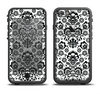 The Black Floral Delicate Pattern Apple iPhone 6/6s LifeProof Fre Case Skin Set