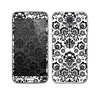 The Black Floral Delicate Pattern Skin For the Samsung Galaxy S5