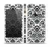 The Black Floral Delicate Pattern Skin Set for the Apple iPhone 5s