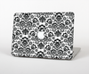 The Black Floral Delicate Pattern Skin for the Apple MacBook Pro 15""