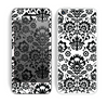 The Black Floral Delicate Pattern Skin for the Apple iPhone 5c