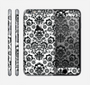 The Black Floral Delicate Pattern Skin for the Apple iPhone 6