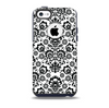 The Black Floral Delicate Pattern Skin for the iPhone 5c OtterBox Commuter Case