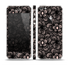 The Black Floral Lace Skin Set for the Apple iPhone 5