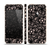 The Black Floral Lace Skin Set for the Apple iPhone 5s