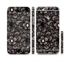 The Black Floral Lace Sectioned Skin Series for the Apple iPhone 6